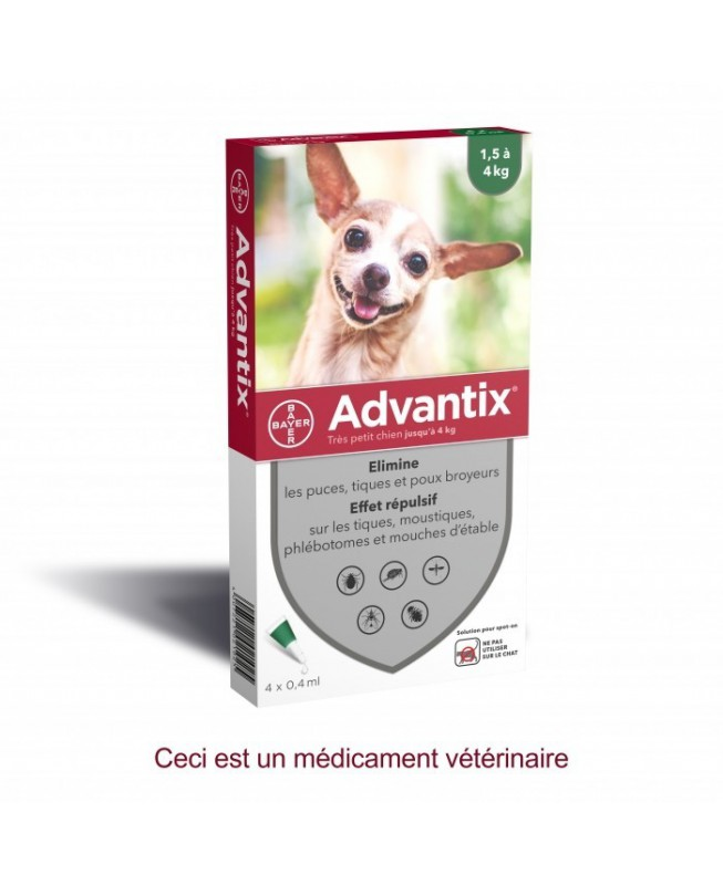 Advantix - Chiens 1,5 à 4 kg